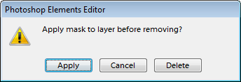Applying layer mask