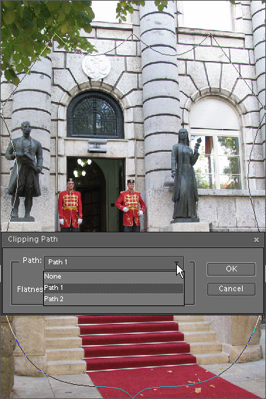 Defining clipping path