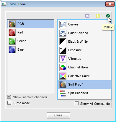Color and Tone dialog