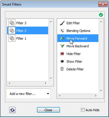 Arranging smart filters