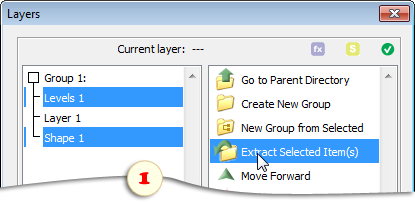 Ungrouping selected layers